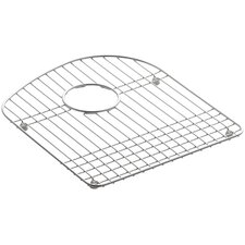 """Woodfield 13-3/4 x 15-3/4"""" Stainless Steel Sink Rack, for Right Bowl"""