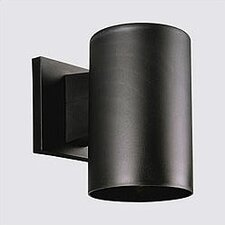 Black Incandescent Plastic Cylinder 1-Light Outdoor Sconce