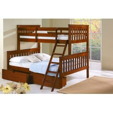 Twin over Full Standard Bunk Bed with Storage by Donco Kids