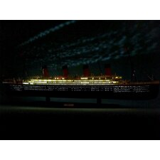"""RMS Titanic 40"""" Limited Model Cruise Ship with LED Lights"""