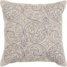 Circles of Scroll Cotton Throw Pillow