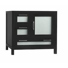 Athena 36 Bathroom Vanity Base Cabinet in Black - Door on Right by Ronbow