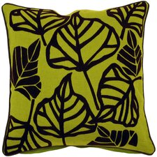 Bold Leaves Throw Pillow