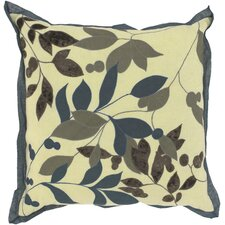 Luxurious Leaves Throw Pillow