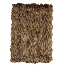 Feathers Faux Fur Throw