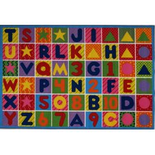 Fun Time Numbers and Letters Kids Area Rug