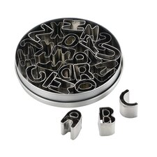 26 Piece Alphabet Fondant Cookie Cutter Set