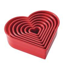 7 Piece Heart Fondant Cookie Cutter Set