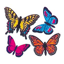 Prismatic Bulk Roll Mini Butterfly Sticker