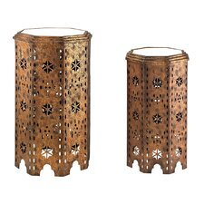 2 Piece Moroccan Side Table Set by Sterling Industries