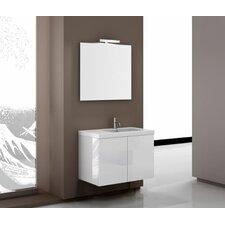 Space 32 Single Footed Bathroom Vanity Set with Mirror by Iotti by Nameeks