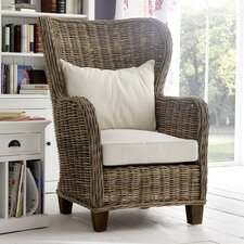 Wickerworks Lounge Chair with Cushions