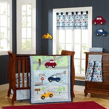 My Little Town 9 Piece Crib Bedding Set by Laugh Giggle & Smile