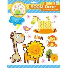 Room Decor Glow in the Dark Animals 3D Wall Decal
