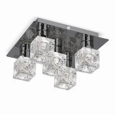 Ice Cube Flush Ceiling Light