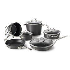Contemporary Nonstick 11 Piece Cookware Set