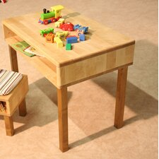 Natura Children's Table with Open Storage Compartment