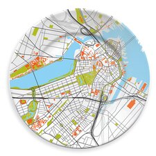 """City on a Plate 12"""" Boston Dinner Plate"""