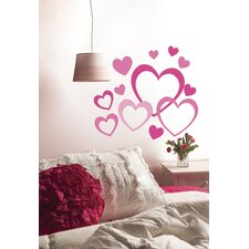 Peel and Stick Hearts in Hearts Wall Decal