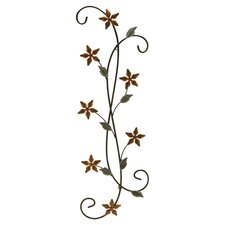 Metal Floral Scroll Wall Décor