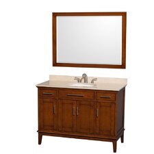 Hatton 48 Single Light Chestnut Bathroom Vanity Set with Mirror by Wyndham Collection