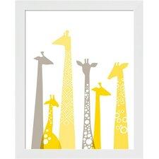 Giraffes Framed Art