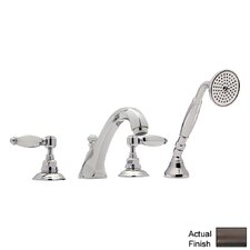 Country Double Handle Bath Roman Tub Faucet with Lever Handle by Rohl