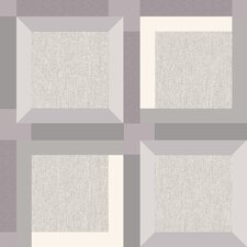 3D Squares 10m L x 53cm W Geometric Roll Wallpaper