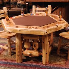 Cedar 6 Sided Poker Table by Fireside Lodge