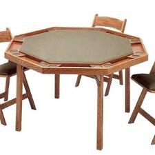 "52"" Oak Contemporary Folding Poker Table"