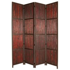 96 x 80 Savannah Shoji 4 Panel Room Divider by Screen Gems
