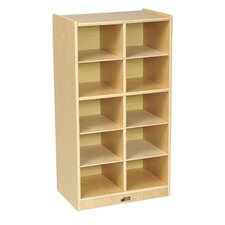 10 Compartment Cubby with Casters