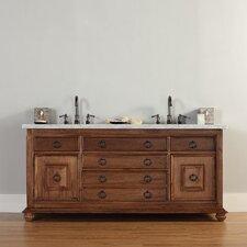 "Mykonos 72"" Double Cinnamon Bathroom Vanity Set"