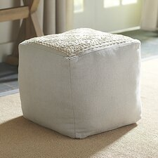 Gibson Embroidered Pouf by Birch Lane™