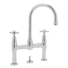 Georgian Era Double Handle Bathroom Faucet with Cross Handle and Remote Pop-Up Drain by Rohl