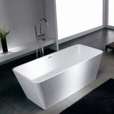 Blanc 58.25 x 26.38 Artificial Stone Freestanding Bathtub by Spa Escapes