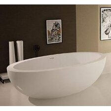 Sovereign 75.5 x 40.5 Artificial Stone Freestanding Bathtub by Spa Escapes