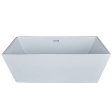 Baron 66.88 x 31.5 Rectangle Acrylic Freestanding Bathtub by Spa Escapes