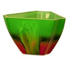Hand Painted Glass Sunrise Series II Vase