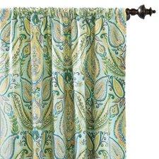 Barrymore Paisley Semi-Sheer Rod pocket Single Curtain Panel