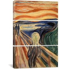 'The Scream' by Edvard Munch Print Multi-Piece Image on Canvas