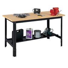 """Economy Flake Board 48""""W Adjustable Height Wood Top Workbench"""