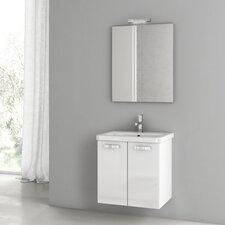 City Play 22 Single Bathroom Vanity Set with Mirror by ACF Bathroom Vanities