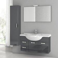 Phinex 39.4 Single Bathroom Vanity Set with Mirror by ACF Bathroom Vanities