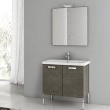 City Play 29.9 Single Bathroom Vanity Set with Mirror by ACF Bathroom Vanities