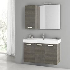 Cubical 37.4 Single Bathroom Vanity Set with Mirror by ACF Bathroom Vanities