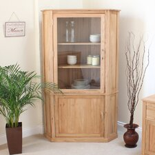 Mobel Oak Corner Display Cabinet
