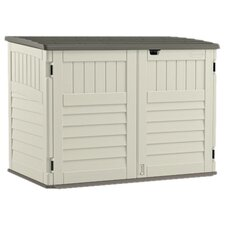5.88 ft. W x 3.8 ft. D Plastic Horizontal Garbage Shed