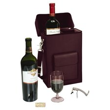 Personalized Connoisseur 2 Bottle Wine Protector and Carrier