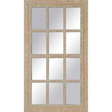 Aged Painted Windowpane Mirror
